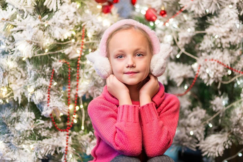 child at christmas