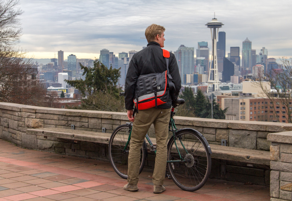 Bike with Full Fenders--and Waterproof Alchemy Goods Bag!