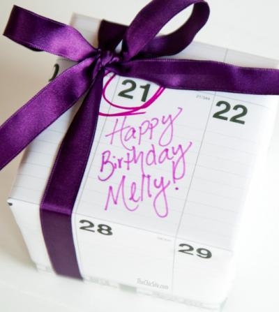 wrapping w calendar